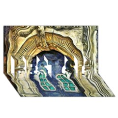 Luebeck Germany Arched Church Doorway Best Sis 3d Greeting Card (8x4)