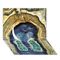 Luebeck Germany Arched Church Doorway Circle 3D Greeting Card (7x5)