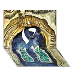 Luebeck Germany Arched Church Doorway Ribbon 3D Greeting Card (7x5)
