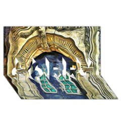 Luebeck Germany Arched Church Doorway Sorry 3d Greeting Card (8x4)