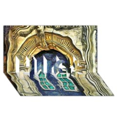 Luebeck Germany Arched Church Doorway Hugs 3d Greeting Card (8x4)