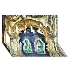 Luebeck Germany Arched Church Doorway Best Wish 3d Greeting Card (8x4)