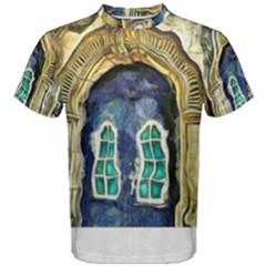 Luebeck Germany Arched Church Doorway Men s Cotton Tees