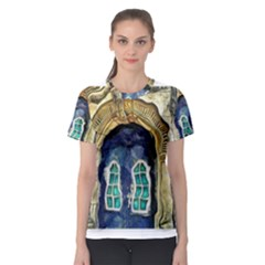 Luebeck Germany Arched Church Doorway Women s Sport Mesh Tees