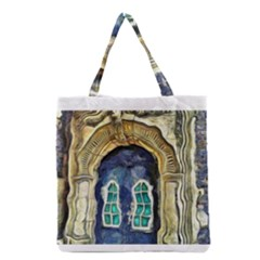 Luebeck Germany Arched Church Doorway Grocery Tote Bags