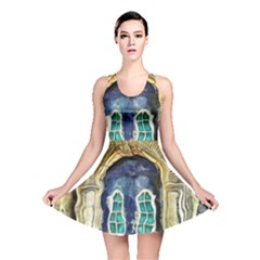 Luebeck Germany Arched Church Doorway Reversible Skater Dresses
