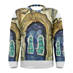Luebeck Germany Arched Church Doorway Men s Long Sleeve T-shirts