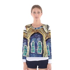 Luebeck Germany Arched Church Doorway Women s Long Sleeve T-shirts