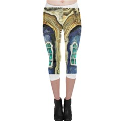 Luebeck Germany Arched Church Doorway Capri Leggings