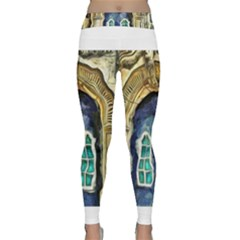 Luebeck Germany Arched Church Doorway Yoga Leggings