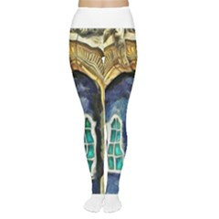 Luebeck Germany Arched Church Doorway Women s Tights
