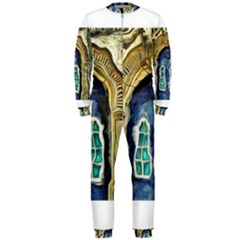 Luebeck Germany Arched Church Doorway OnePiece Jumpsuit (Men)