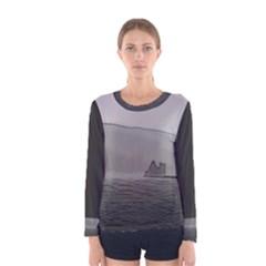 Lochranza Castle Storm Women s Long Sleeve T Shirts