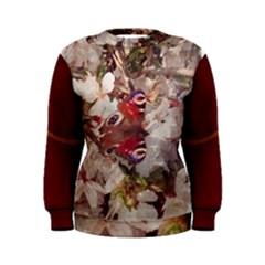 Blossom Butterfly Watercolour Women s Sweatshirts