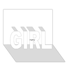 Usa States Flag Girl 3d Greeting Card (7x5)