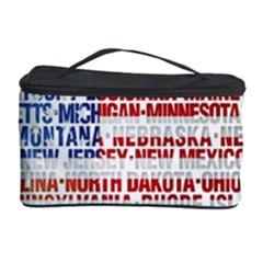 USA States Flag Cosmetic Storage Cases