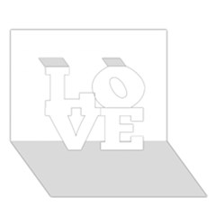 Florida LOVE 3D Greeting Card (7x5)