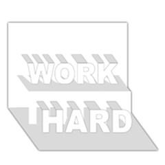 Florida WORK HARD 3D Greeting Card (7x5)