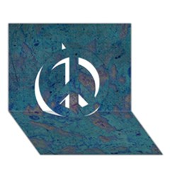 Urban Background Peace Sign 3D Greeting Card (7x5)