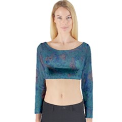 Urban Background Long Sleeve Crop Top