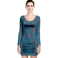 Urban Background Long Sleeve Bodycon Dresses