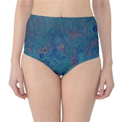 Urban Background High-Waist Bikini Bottoms