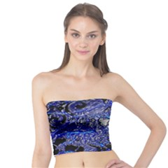 Blue Silver Swirls Women s Tube Tops