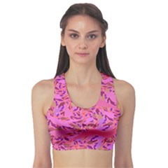 Bright Pink Confetti Storm Sports Bra