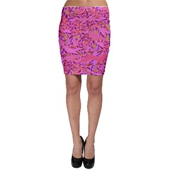 Bright Pink Confetti Storm Bodycon Skirts