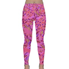 Bright Pink Confetti Storm Yoga Leggings