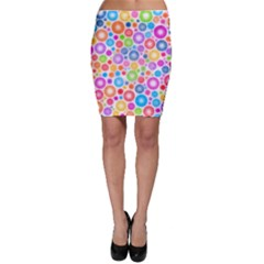 Candy Color s Circles Bodycon Skirts
