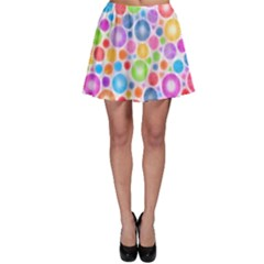 Candy Color s Circles Skater Skirts