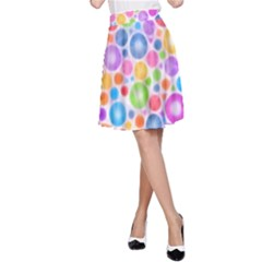 Candy Color s Circles A-Line Skirts