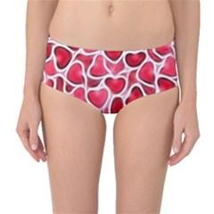 Candy Hearts Mid-Waist Bikini Bottoms