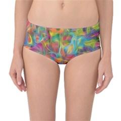 Colorful Autumn Mid Waist Bikini Bottoms