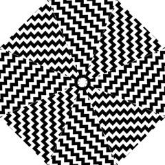 Black And White Zigzag Hook Handle Umbrellas (medium)