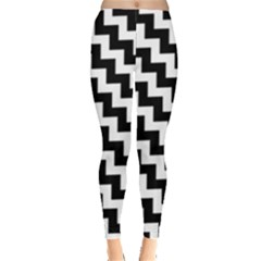 Black And White Zigzag Women s Leggings