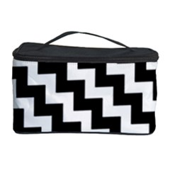 Black And White Zigzag Cosmetic Storage Cases