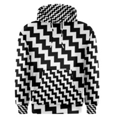 Black And White Zigzag Men s Pullover Hoodies
