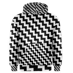 Black And White Zigzag Men s Zipper Hoodies
