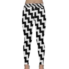 Black And White Zigzag Yoga Leggings