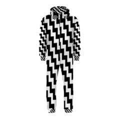Black And White Zigzag Hooded Jumpsuit (Kids)