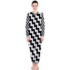 Black And White Zigzag OnePiece Jumpsuit (Ladies)