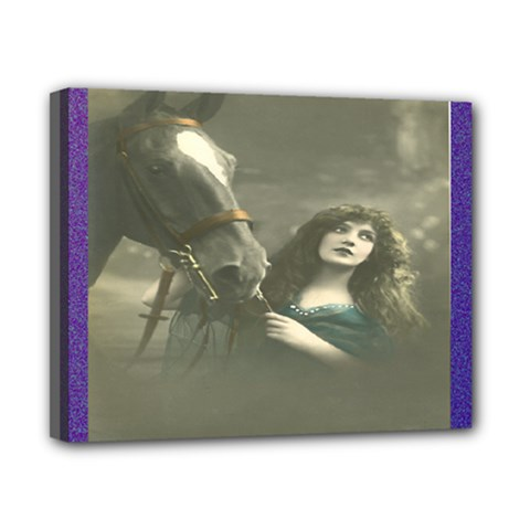 Vintage Woman With Horse Canvas 10  X 8