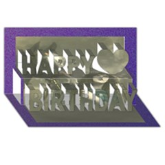 Vintage Woman With Horse Happy Birthday 3D Greeting Card (8x4)
