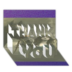 Vintage Woman With Horse Thank You 3d Greeting Card (7x5)