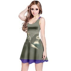 Vintage Woman With Horse Reversible Sleeveless Dresses