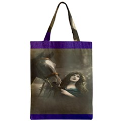 Vintage Woman With Horse Classic Tote Bags