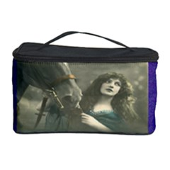Vintage Woman With Horse Cosmetic Storage Cases