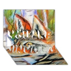 Wolfpastel YOU ARE INVITED 3D Greeting Card (7x5)